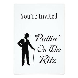 Dapper Man Puttin On The Ritz 5x7 Paper Invitation Card