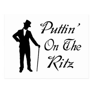Dapper Man Puttin On The Ritz Postcard