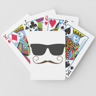 Dapper Mustache Bicycle Playing Cards