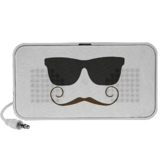 Dapper Mustache Mp3 Speakers