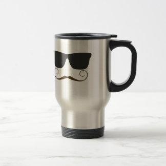 Dapper Mustache Stainless Steel Travel Mug
