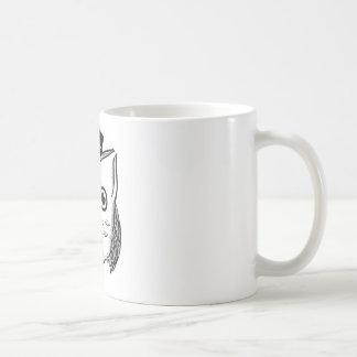 Dapper Owl Circle Basic White Mug
