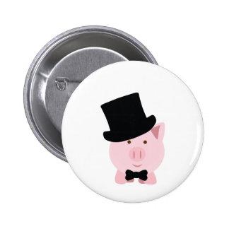 Dapper Pig 6 Cm Round Badge