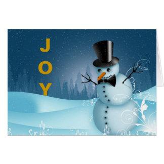 DAPPER SNOWMAN JOYFUL CHRISTMAS CARD