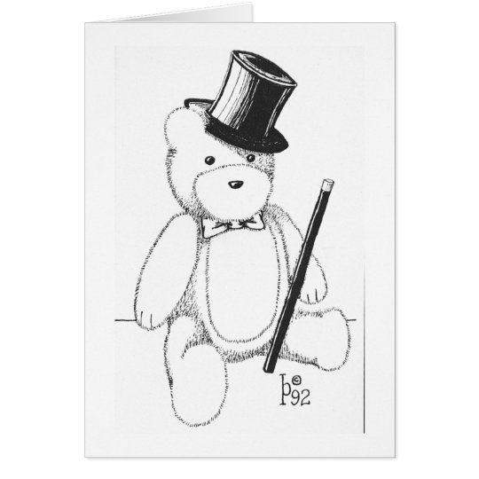 Dapper Teddy Bear Card