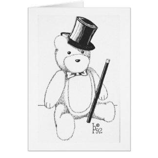 Dapper Teddy Bear Note Card