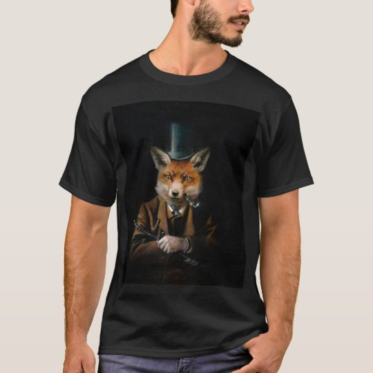 Dapper Victorian Fox Men's T-shirt