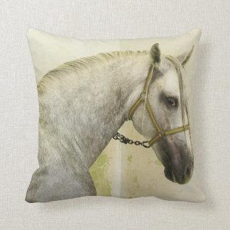 Dapple Gray Andalusian Horse Cushion