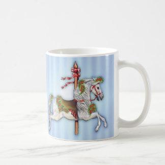 Dapple Gray Carousel Horse Coffee Mug