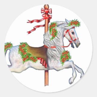 Dapple Gray Carousel Horse Stickers