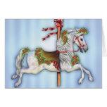 Dapple Grey Carousel Horse