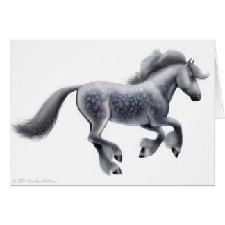 Dapple Grey Draft Horse Greeting Card