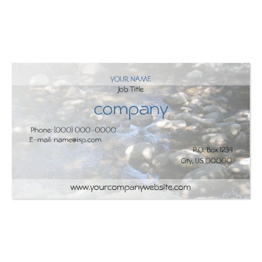 Dappled Creek Profile Card Business Card