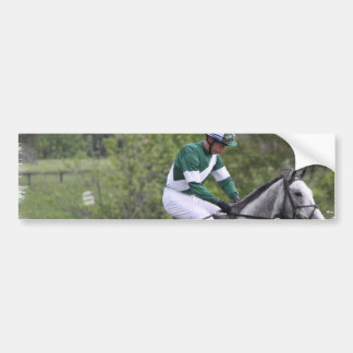 Dappled Grey Race Horse Bumper Sticker