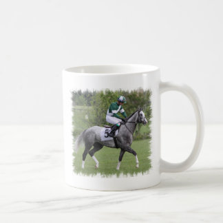 Dappled Grey Race Horse Coffee Mug