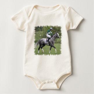 Dappled Grey Race Horse Infant Baby Bodysuit