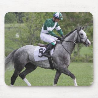 Dappled Grey Race Horse Mouse Pad