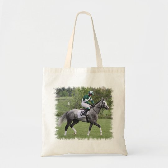 Dappled Grey Race Horse Small Tote Bag