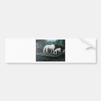Dappled Mare and Foal Bumper Sticker