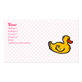 Dappy Duck Pack Of Standard Business Cards