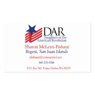 DAR Card for Mom Pack Of Standard Business Cards