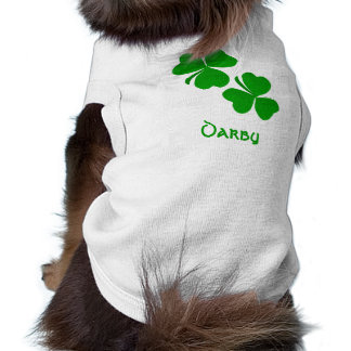 Darby Irish Shamrock Name Sleeveless Dog Shirt