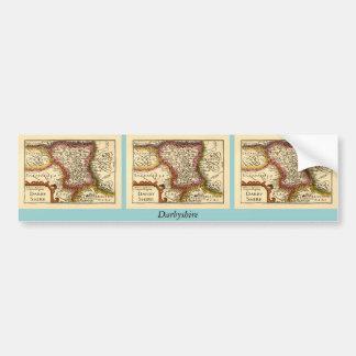 """Darbyshire"" Derbyshire County Map, England Bumper Sticker"