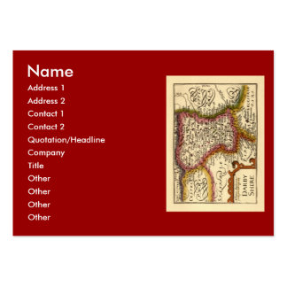 """""""Darbyshire"""" Derbyshire County Map, England Pack Of Chubby Business Cards"""