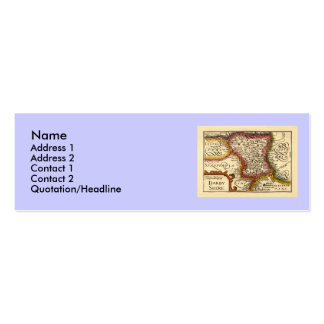 """""""Darbyshire"""" Derbyshire County Map, England Pack Of Skinny Business Cards"""