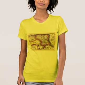 """Darbyshire"" Derbyshire County Map, England T-Shirt"