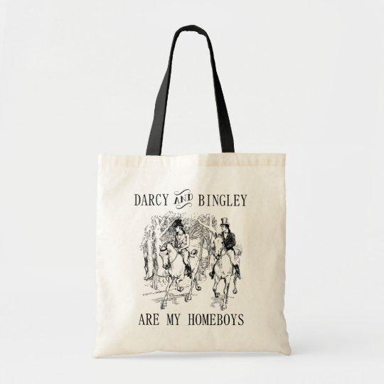 Darcy & Bingley Homeboys Jane Austen tote bag