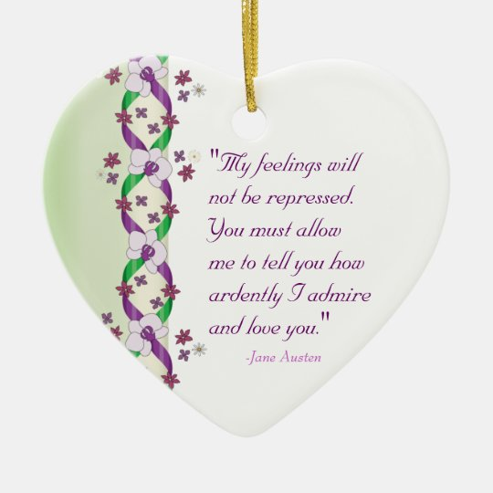 Darcy Quote Customisable Ornament