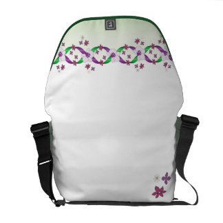 Darcy Ribbons & Flowers Rickshaw Messenger Courier Bag