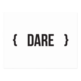 Dare - Bracketed - Black and White Postcard