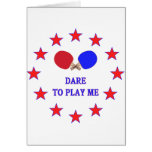 Dare Play Me Ping Pong Stationery Note Card
