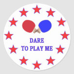 Dare Play Me Ping Pong Stickers