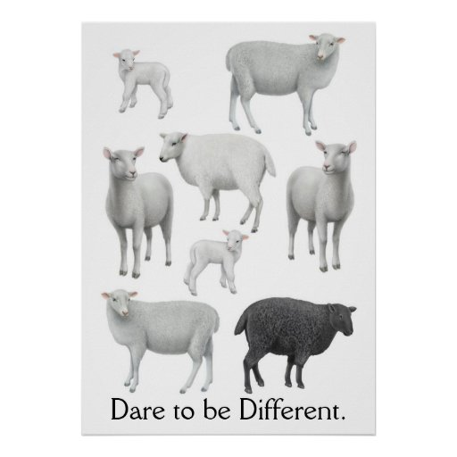 Dare to be Different Black Sheep Print