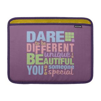 "Dare To Be Different custom 13"" MacBook sleeve"