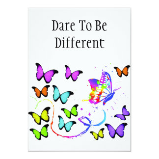 Dare To Be Different invitation
