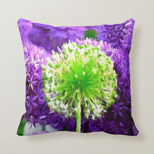 Dare to Be Different Lime Green Purple Flowers