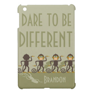 Dare to be different, monkeys, safari iPad mini case