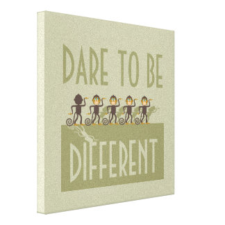 Dare to be different, monkeys, safari stretched canvas print
