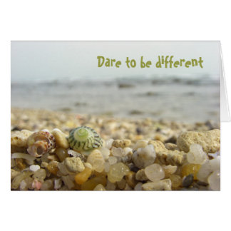 Dare to be different Shell & Pebbles at the beach Card
