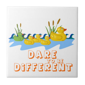 DARE TO BE DIFFERENT SMALL SQUARE TILE