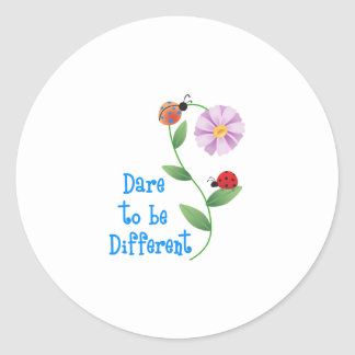 DARE TO BE DIFFERENT ROUND STICKERS