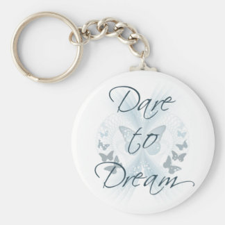 Dare to Dream Basic Round Button Key Ring