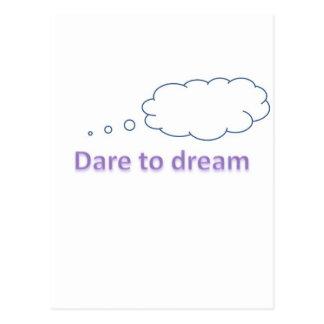 dare to dream postcard