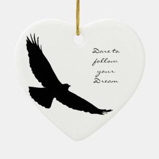 Dare to follow your Dream Hawk Silhouette Ornaments
