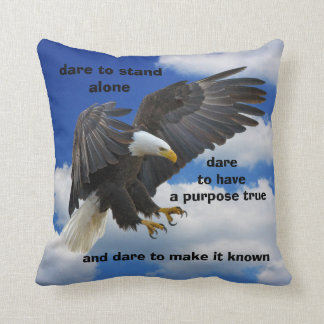 Dare to Stand Alone, American Bald Eagle Edition Cushion