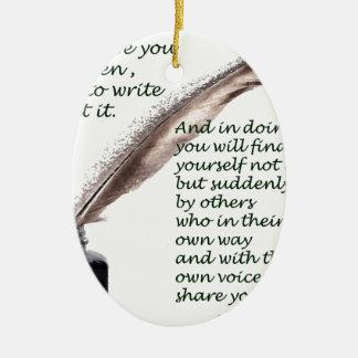 Dare to write christmas ornament